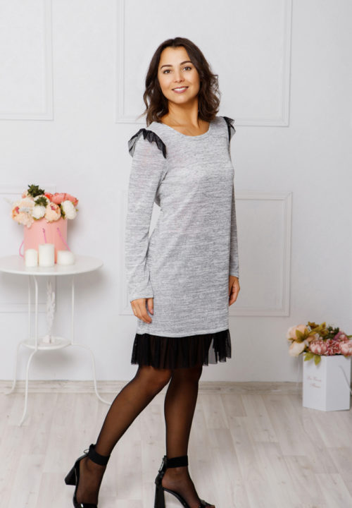 """Трикотажное платье """"Grey"""" М-1047"""