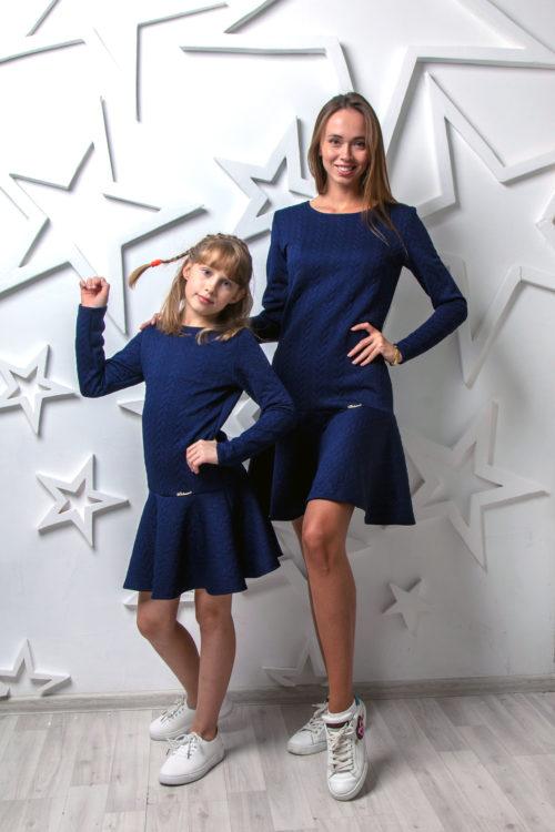 Комплект одинаковых платьев Family Look КМ 2222