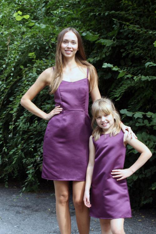 Комплект нарядных платьев Family Look для мамы и дочки КМ 2226