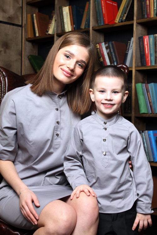 Комплект в стиле Family Look для мамы и сына КМ 2206