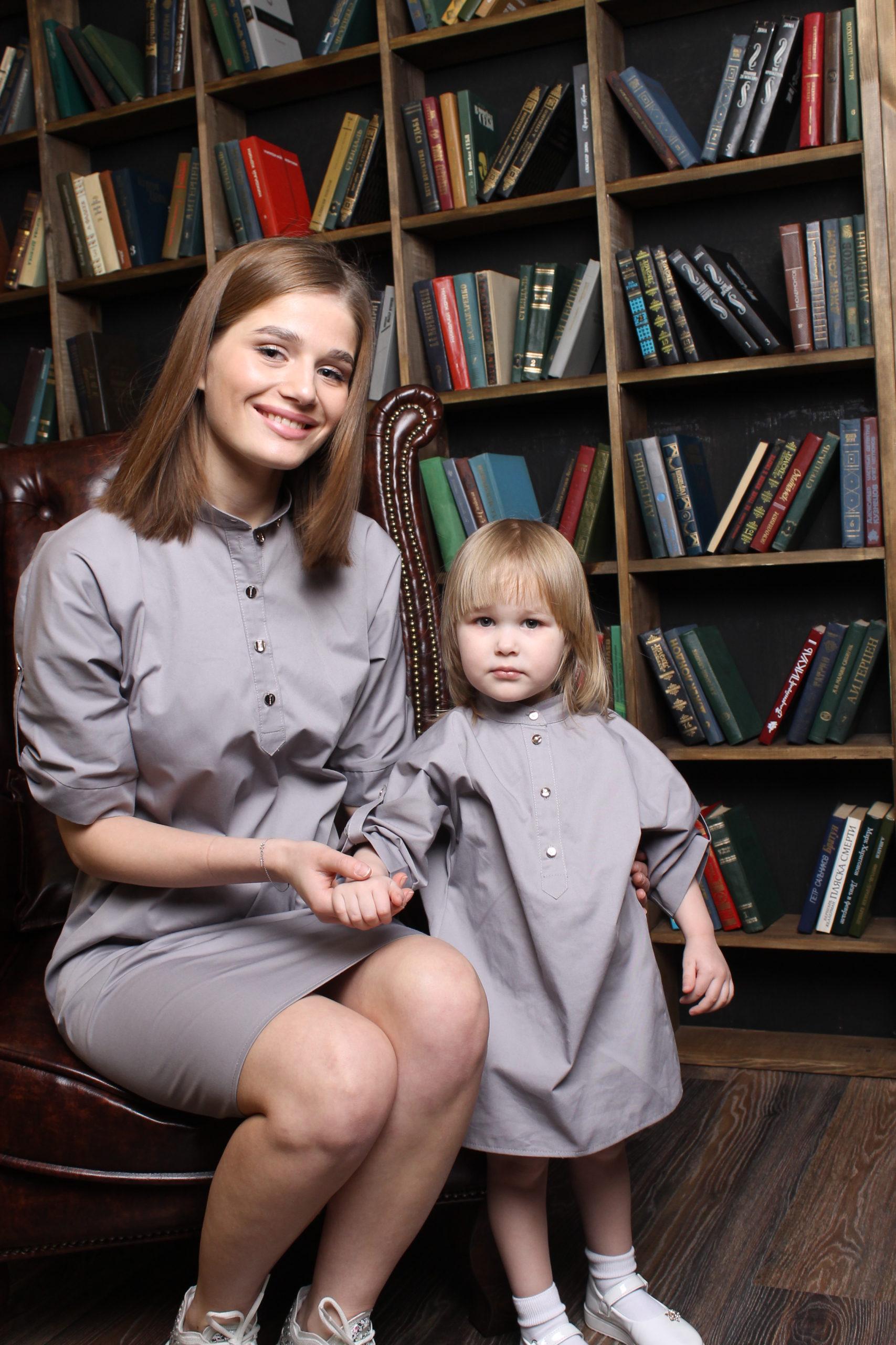 Комплект в стиле Family Look для мамы и дочки КМ 2206