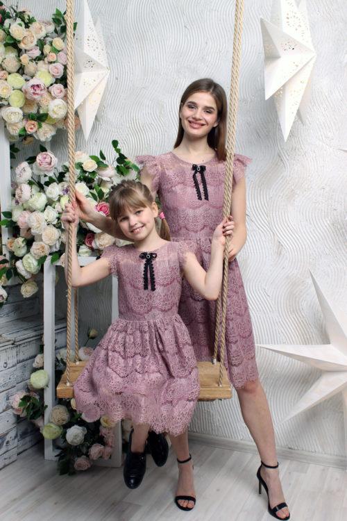 Комплект платьев для мамы и дочки КМ 2201