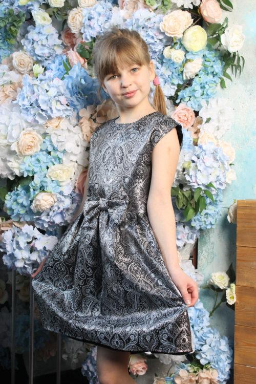 Комплект нарядных платьев для мамы и дочки КМ 2215