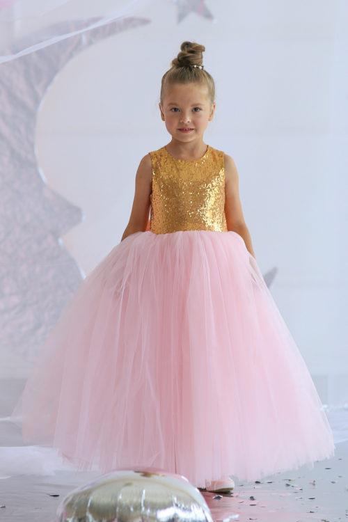 Платье для девочки с блесками – Лика