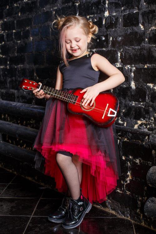 Платье для девочки на фотосессии – Рок стар
