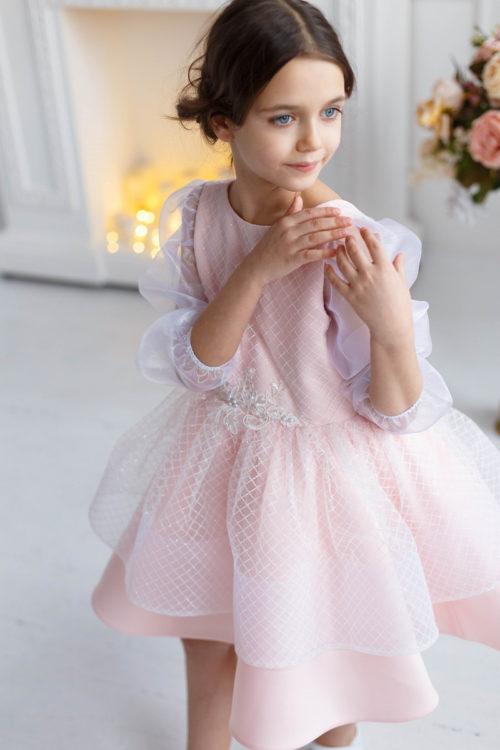 Платье для девочки с открытой спиной – Лиана