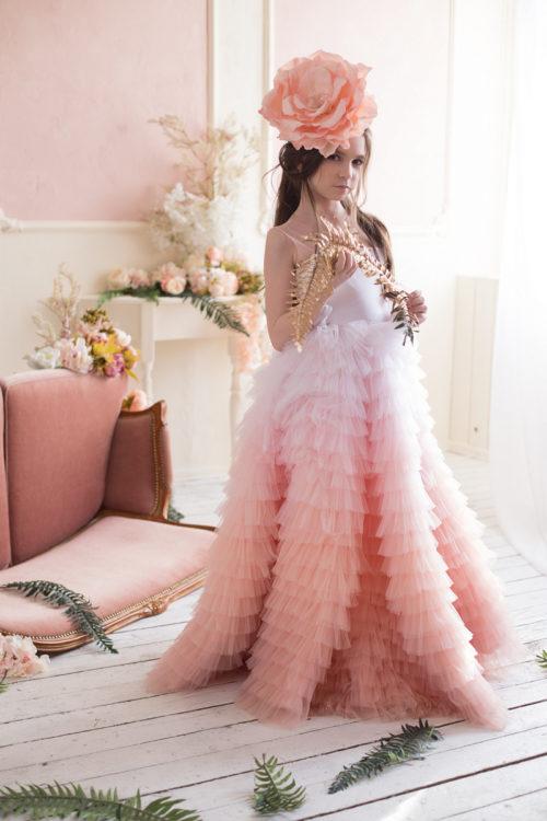 Нарядное платье в пол для девочки – Грация