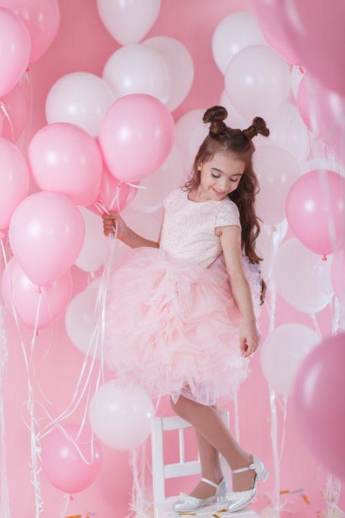 Пышное платье для девочки – Пион