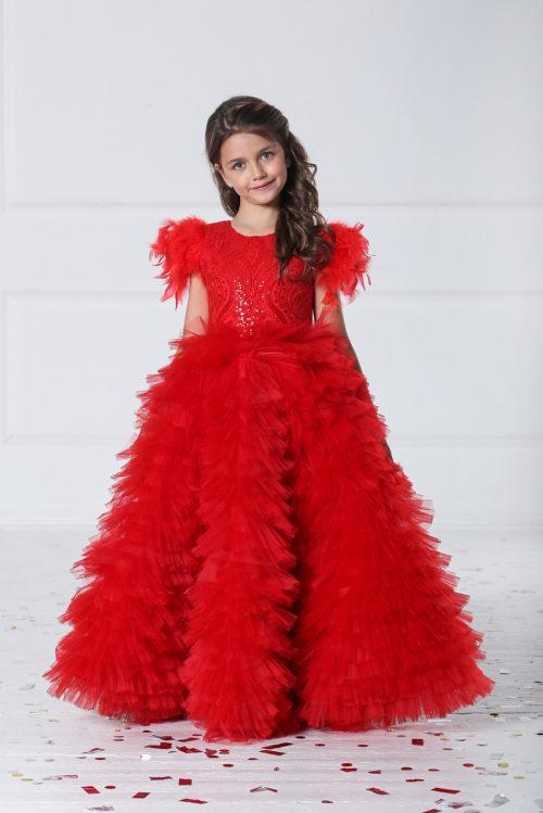 Нарядное платье в пол для девочки – Изабелла