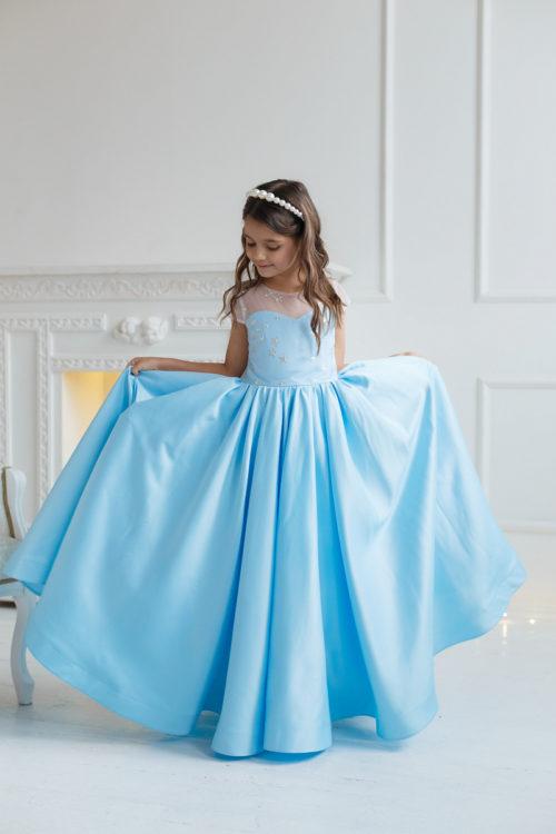 Нарядное платье в пол для девочки – Амелия