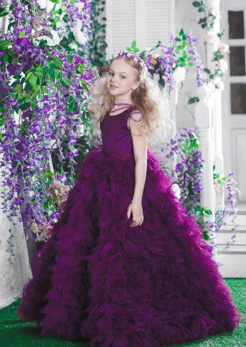Нарядное платье в пол для девочки – Квин