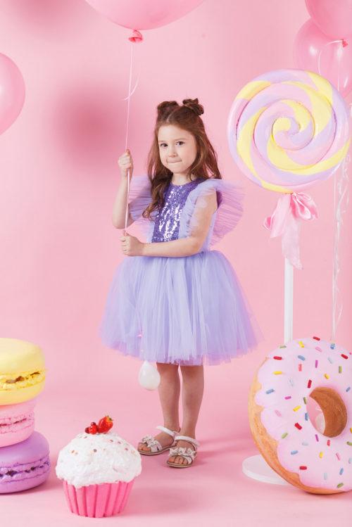 Платье для девочки с блесками – Эльза