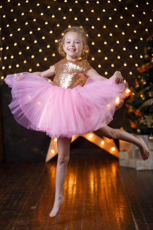 Платье для девочки с блесками – Глория