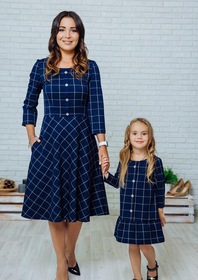 """Комплект платьев в стиле Family Look для мамы и дочки """"Анна"""" М-2140"""