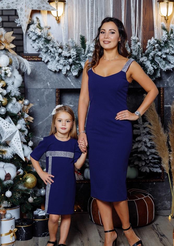 """Комплект платьев в стиле Family Look для мамы и дочки """"Бриджит"""" М-2149-2"""