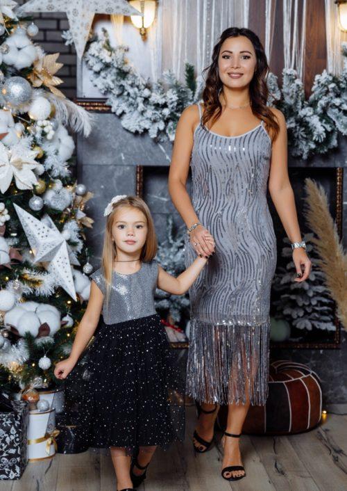 """Комплект вечерних платьев в стиле Family Look """"Гэтсби"""" М-2144"""