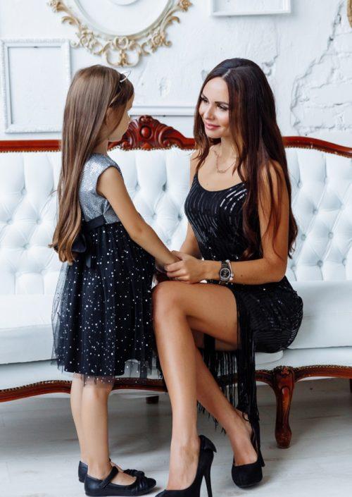 """Комплект вечерних платьев в стиле Family Look """"Гэтсби"""" М-2144-2"""