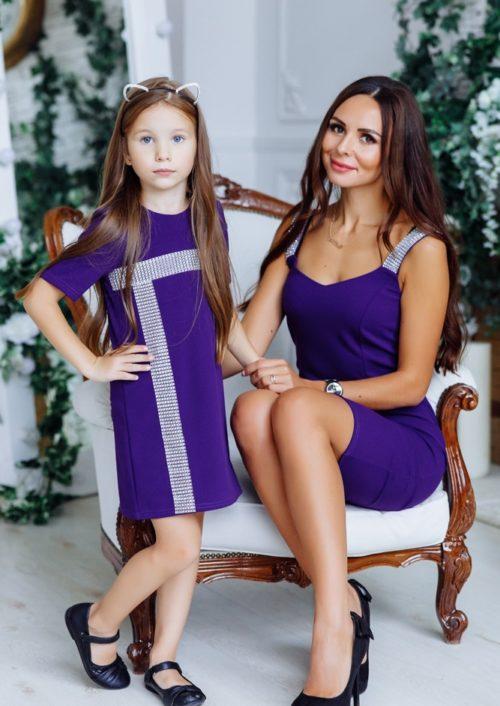 """Комплект платьев в стиле Family Look для мамы и дочки """"Бриджит"""" М-2149"""