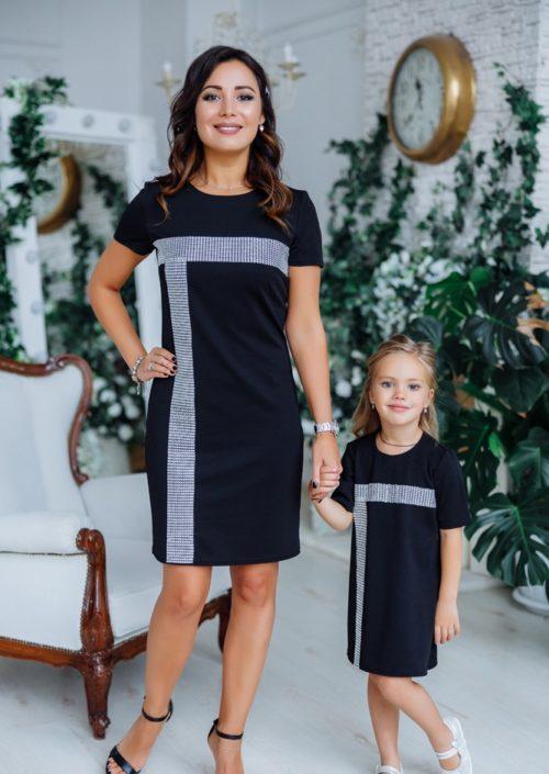 """Комплект нарядных платьев в стиле Family Look для мамы и дочки """"Муза"""" М-2150"""
