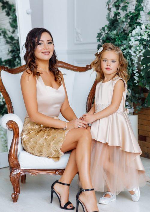 """Комплект вечерних платьев в стиле Family Look """"Диана"""" М-2143-2"""