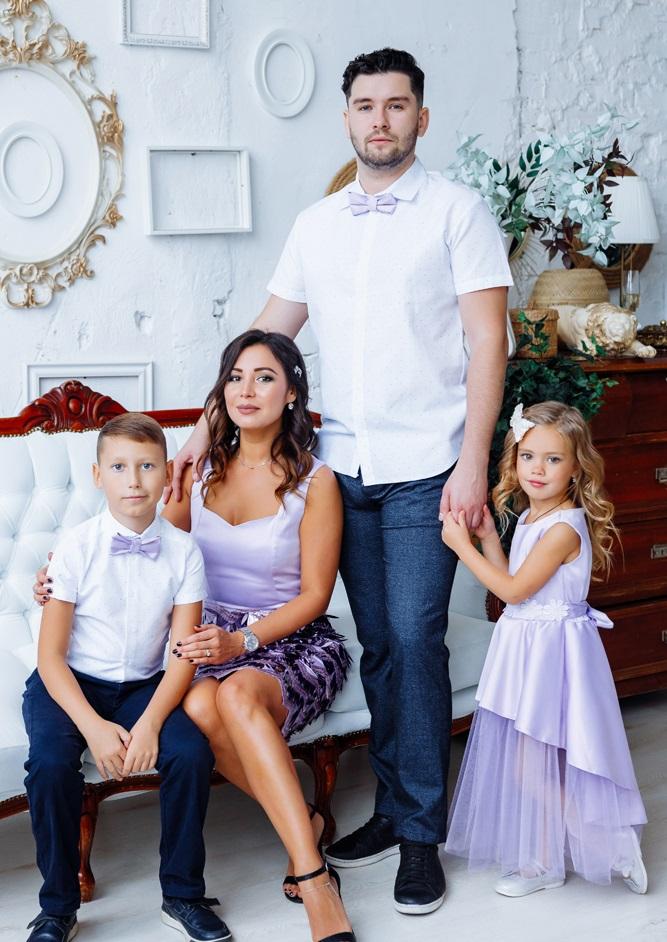 """Комплект вечерних платьев в стиле Family Look """"Диана"""" М-2143"""
