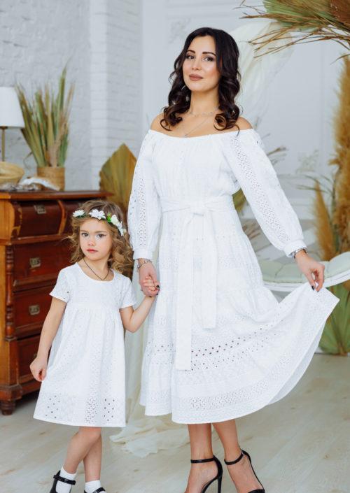 """Комплект платьев из шитья в стиле family look """"Афродита"""" М-2164"""