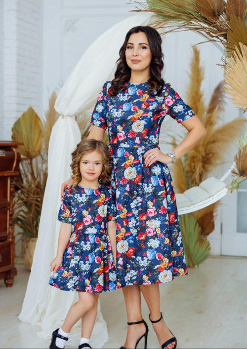 """Комплект платьев в стиле family look """"Адель"""" М-2165"""