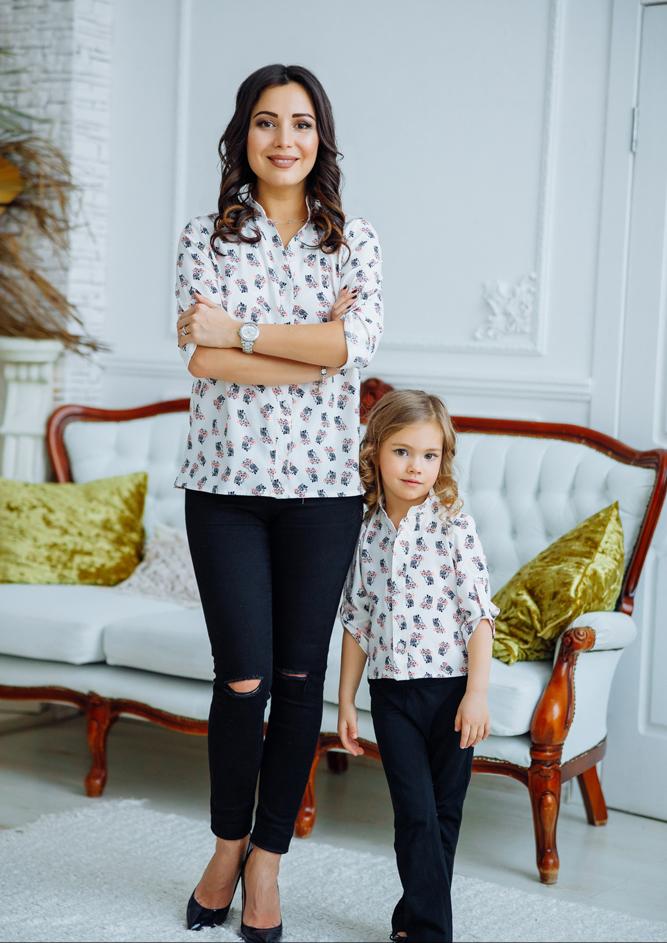 "Комплект блузок в стиле family look ""Вика"" М-2168"